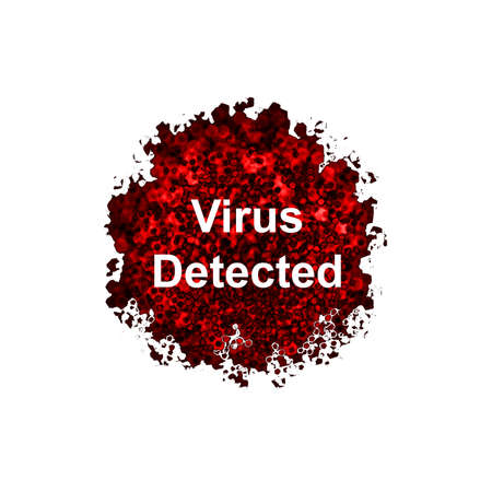 detected: Virus Detected isolated on white background
