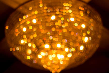 crystal chandelier: Bokeh from crystal chandelier Stock Photo