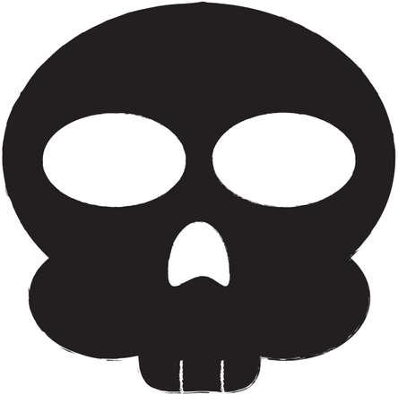 dying: Skull Vector Icon Illustration