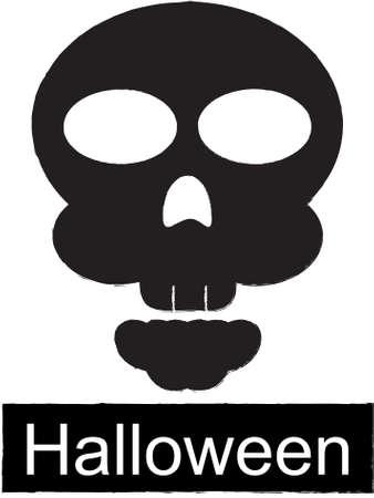dying: Skull Vector Icon, Halloween Illustration