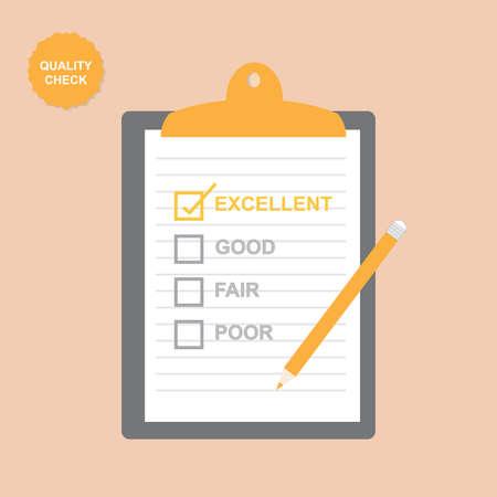 servicio al cliente: Lista de Verificación de Calidad Vectores