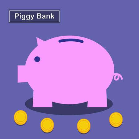 piggy bank money: Piggy bank, Saving money Illustration