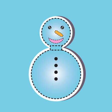 snow man: Snow Man paper cut