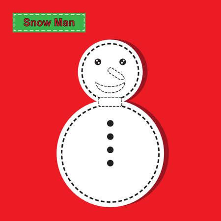 snow man party: Snow Man paper cut
