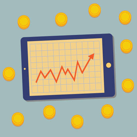 communications tools: Tablet, Graph, Money