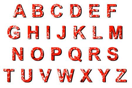 xyz: Abstract red bokeh ABCDEFGHIJKLMNOPQRSTUVWXYZ