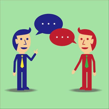 two men talking: Two business men talking