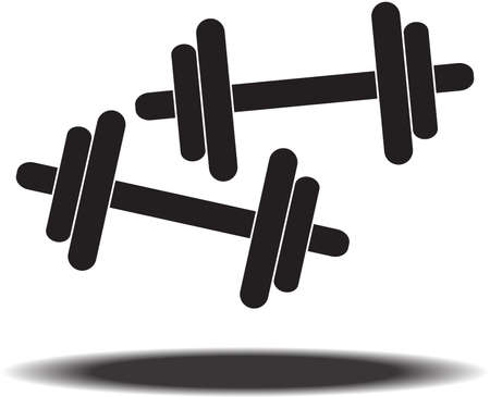 hand lifting weight: Dumbbell vector Illustration