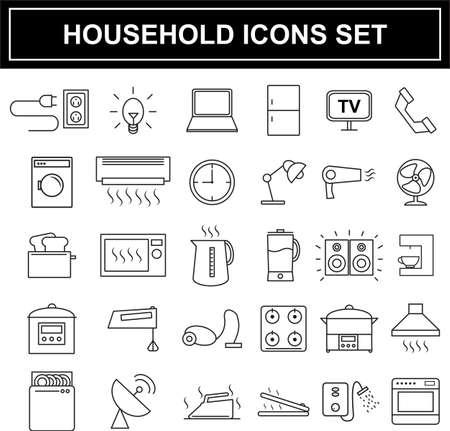 appliances: Household appliances icons set