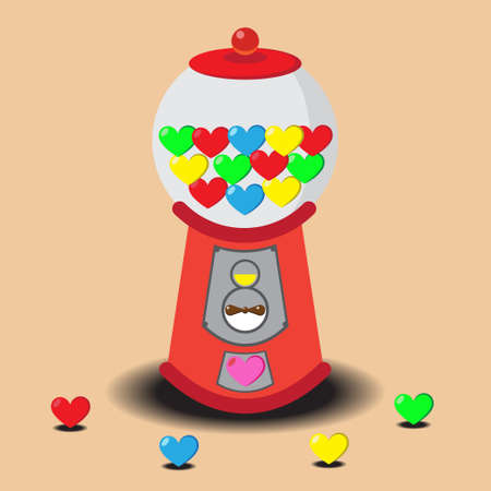 gumball: Gumball Machine filled with Valentine hearts