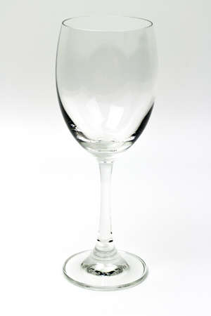 bocal: Empty wine glass on a white background. Stock Photo