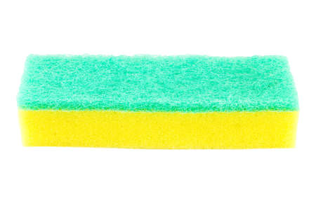 bright housekeeping: Cleaners, detergents, household cleaning sponge for cleaning. Stock Photo