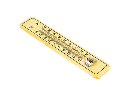 hygrometer: Thermometer Isolated on white background