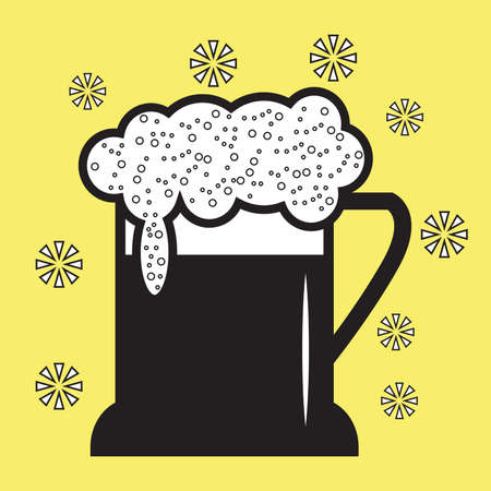 Glass of beer icon image.