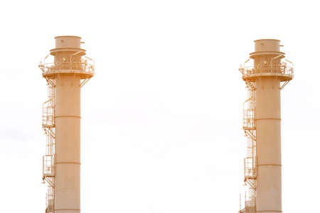 smokestacks: Natural Gas Combined Cycle Power plant electricity generating station of industry.