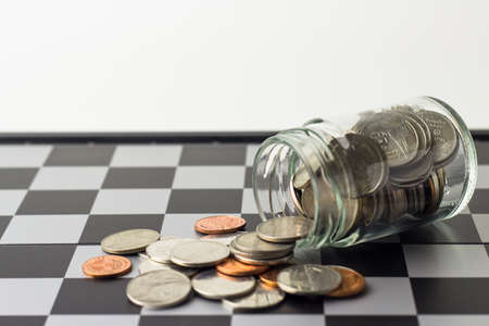 Save Money chess game business ,the strategy investment with your money.