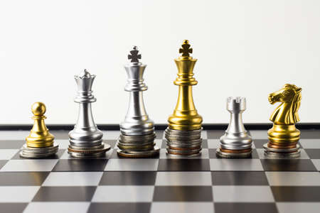 Money chess game business ,the strategy investment with your money. Stock Photo