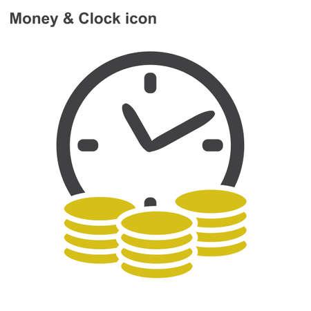 クレジットのベクター アイコン。お金とお金フラット アイコンを白い背景の上。  イラスト・ベクター素材