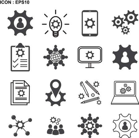Knowledge, Ability, Skills icon, Vector illustration EPS10. Çizim