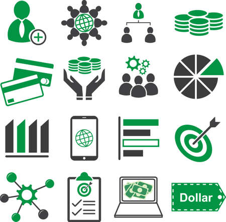 seo: Business financial marketing icon set, Vector illustration EPS10.