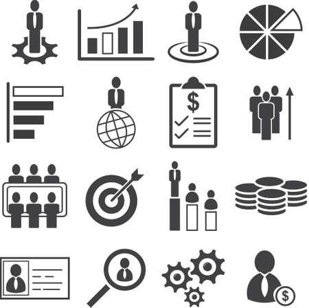 Bedrijfsmensenbeheer, Zeer belangrijk doel aan de reeks van het Succespictogram, Vectorillustratie.