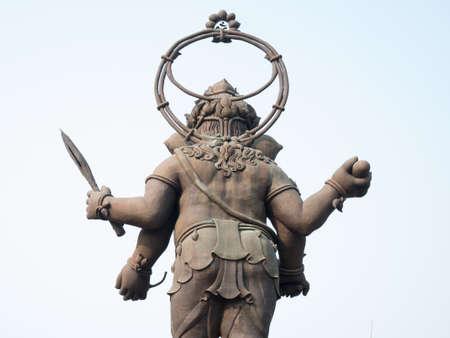 CHACHOENGSAO, THAILAND - FEBRUARY 18: Large statue of Lord Ganesha of Hindu deity in Chachoengsao, Thailand. 報道画像