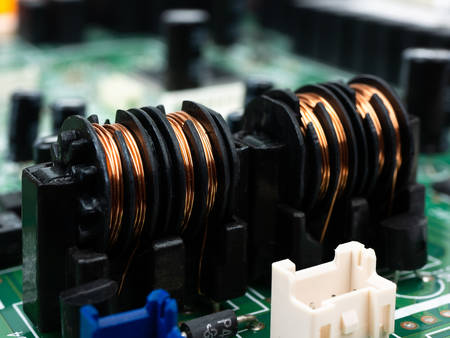 High tech electronic PCB (Printed circuit board) with microchips processor technology.