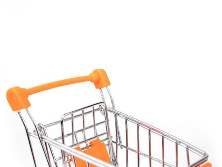 Shopping Cart, Push Cart isolated on white background Stock Photo