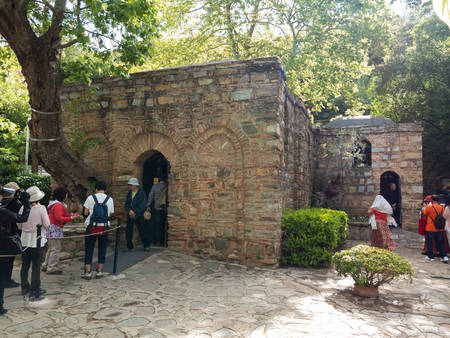 May 02 2019, Selchuk, Aydin, Turkey. Entrance to the Virgin Marys House near Ephesus.