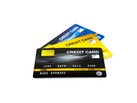 Credit card isolated on white background.