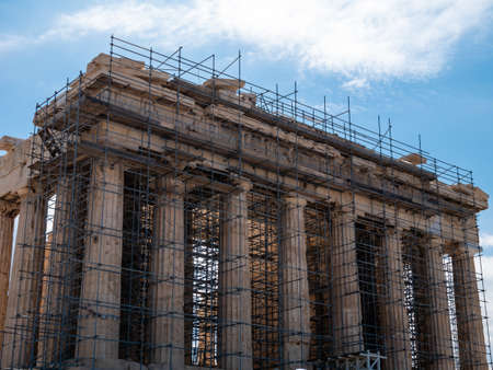 Repairs the Acropolis is the most visited monument of antiquity in Greece. Stock fotó