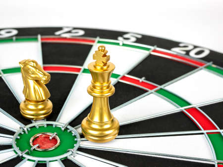 Gold Chess and dartboard.
