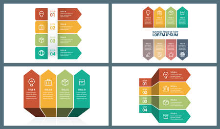 Perspective Arrow Infographic Template. Elements are layered separately in vector file. Vector arrows lines infographics set. Template for growth diagram, graph, presentation, chart.