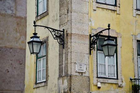 chiado: Street in Lisbon Stock Photo