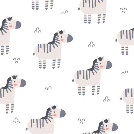 Zebra seamless background repeating pattern, wallpaper background, cute seamless pattern background Stock Illustratie
