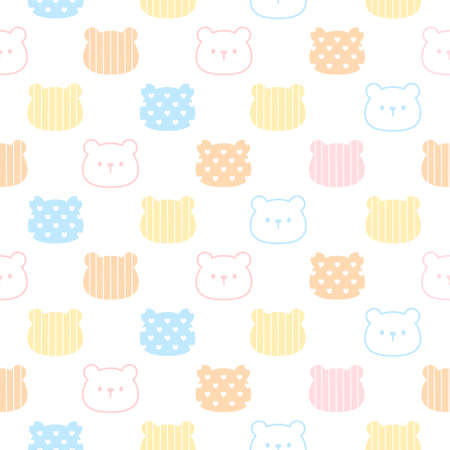 Cute bear seamless background repeating pattern, wallpaper background, cute seamless pattern background Ilustração