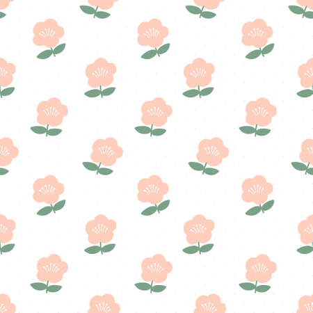 Cute flowers seamless background repeating pattern, wallpaper background, cute seamless pattern background
