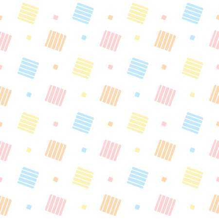 Cute pastel squares seamless background repeating pattern, wallpaper background, cute seamless pattern background Ilustração