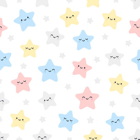 Cute stars seamless background repeating pattern, wallpaper background, cute seamless pattern background