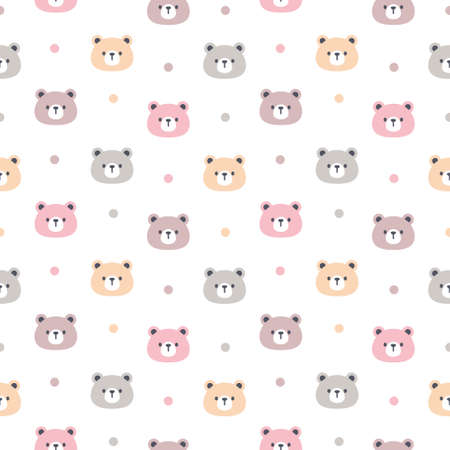Pastel bear seamless background repeating pattern, wallpaper background, cute seamless pattern background