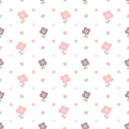 Pastel flowers seamless background repeating pattern, wallpaper background, cute seamless pattern background