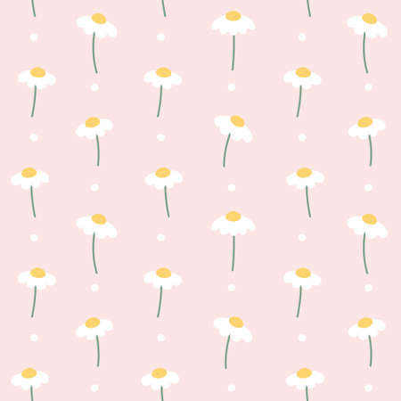 Cute flower seamless background repeating pattern, wallpaper background, cute seamless pattern background Ilustração