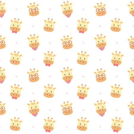 Cute giraffe seamless background repeating pattern, wallpaper background, cute seamless pattern background