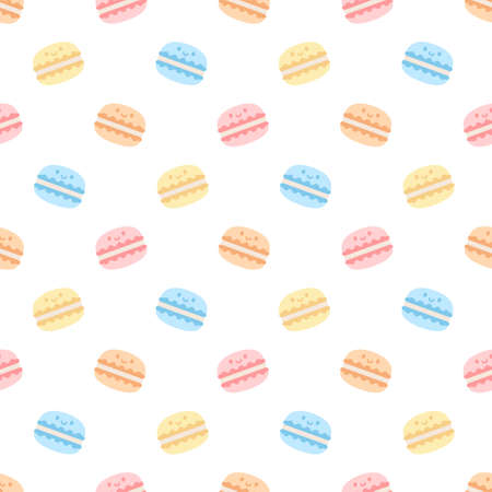 Cute macaron seamless background repeating pattern, wallpaper background, cute seamless pattern background