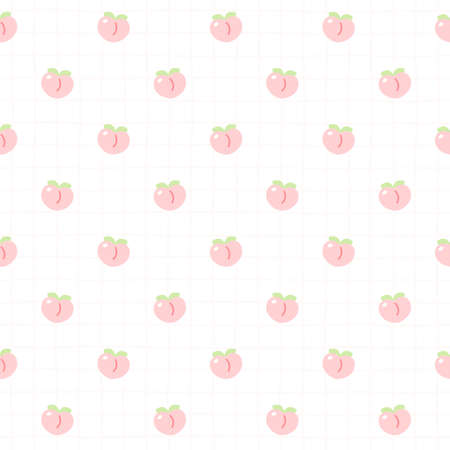 Cute peach seamless background repeating pattern, wallpaper background, cute seamless pattern background Ilustração