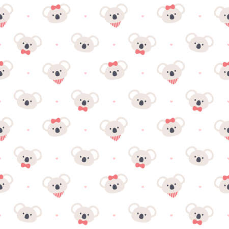 Cute koala bear seamless background repeating pattern, wallpaper background, cute seamless pattern background
