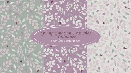 Spring Emotion Branches Wallpaper Pink Mint Abstract Branches Seamless Repeating Pattern Simple Elements combined with Refreshing Colors Ideal for Spring/ Summer prints on various Products Çizim