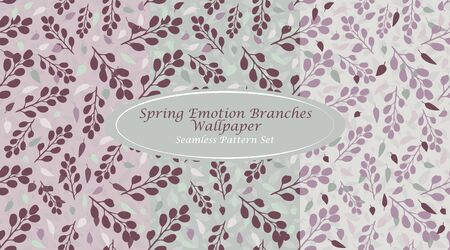 Spring Emotion Branches Wallpaper Cherry Mint Abstract Branches Seamless Repeating Pattern Simple Elements combined with Refreshing Colors Ideal for Spring/ Summer prints on various Products
