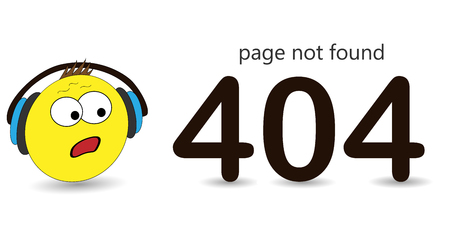 404 error page vector template for website. Surprised emotion, huh emotion. Cartoon print.