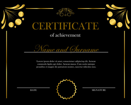 Creative certificate, diploma. Frame for diploma, certificate. Certificate template with elegant border frame, Diploma design for graduation or completion.